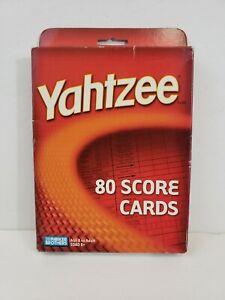 Milton Bradley's Yahtzee Score Cards 80 Score Cards New in Box
