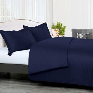 100% Combed Cotton Duvet Cover Set-300TC Solid With Button Enclosure Duvet Cover