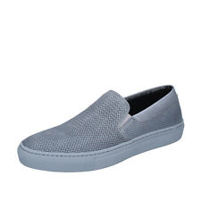 men's shoes Triver Flight 11 (Eu 44) loafers slip on gray leather Bp233-44