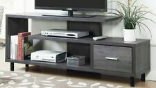 TV Stand 60 inch Flat Screen Console Home Furniture Entertainment Media Grey