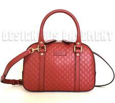 GUCCI red MICRO GUCCISSIMA Leather convertible EXTRA SMALL BOSTON bag NWT Authen