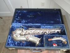 Vintage Martin Handcraft Alto Saxophone Sax Silver W/ Gold Wash Bell W/ Case
