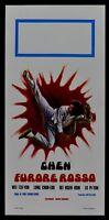L121 Plakat Bruce Lee Karate' Kampfsport Kung Fu Chen Furore Rot