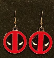 DEADPOOL Earrings Stainless Hook New ANTIHERO Superhero (C)