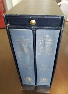 The compact edition of Oxford English Dictionary, 2-Vol. 1979 Set & Magnifier