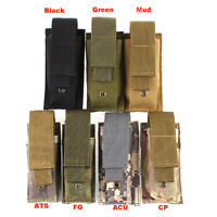 Tactical Molle Flashlight Pouch Holster Nylon Military LED Torch Storage Case