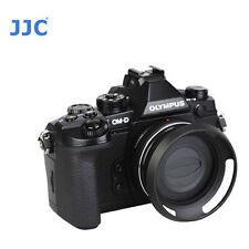 JJC Lens Hood Z-014-42II Fr Olympus Zuiko ED EZ 14-42mm Panasonic 12-32mm  Black