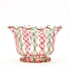 ANTIQUE VENETIAN RIBBON GLASS SALVIATI BOWL 19TH C.