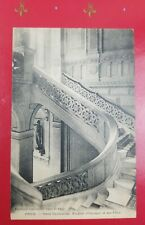 c1901 Antique Postcard Hotel Continental Paris France Famous Gothic Staircase