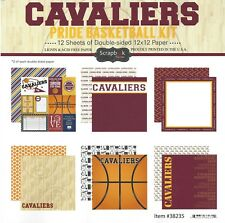SC - Cavaliers Basketball Scrapbooking Paper KIT - 12 pages - 12 Designs