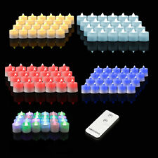 24~72PC Flameless Flicker LED Christmas/Wedding Tea Light Candle &Remote Control
