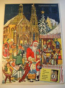 Alter Adventskalender - JACOBS KAFFEE - Christkindl-Markt in Nürnberg - 60er J.