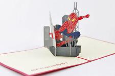 Spiderman 3D Pop Up Voeux Carte d'anniversaire. invitation. Vendeur Britannique