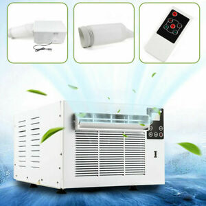 Portable Air Conditioner Cooling Mobile Fan Cooler Window Kit W/ RC AU