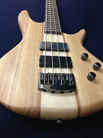 B-327N Haze Neck-thru 4-String Electric Bass Guitar Natural w/Free gig bag,Strap