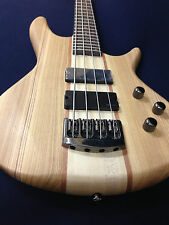 Haze B-327N 4-String Neck-thru Electric Bass Guitar Natural w/Free gig bag,Strap