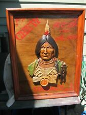 VINTAGE  SEXTON  METAL  INDIAN 1970 USA 599.40  CUSTOM  RED  MAN TOBACCO SIGN