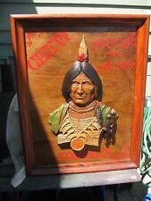 VINTAGE  SEXTON  METAL  INDIAN 1970 USA 599.40  CUSTOM  RED  MAN TOBACCO SIGN