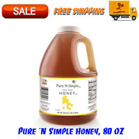 Pure 'N Simple Honey 80 Oz 100% Honey No Added Ingredients Or Preservatives