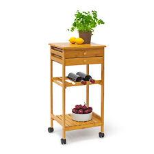 Küchenrollwagen JAMES M Servierwagen Küchenwagen Rollwagen Weinablage Bambus
