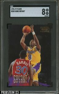 1996-97 Fleer #203 Kobe Bryant Los Angeles Lakers RC Rookie HOF SGC 8 NM-MT
