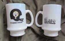 1970s vintage, wpxi, TV show WIIC 11 Alive, Pittsburgh Steelers, miik glass mug