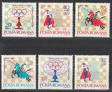 Rumänien / Romana 2478-2483** Schacholympiade 1966 Havanna / Chess Olympiad