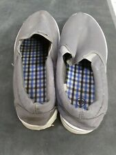 Gray mens slip on shoes size 10