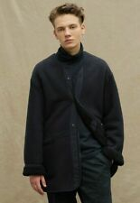 SEALED Uniqlo x Engineered Garments Fleece XS Collarless Coat in Navy BNWT