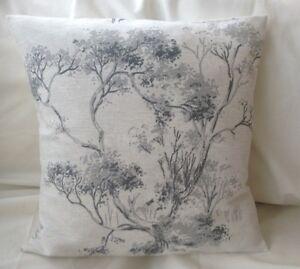 Lovely Laura Ashley Designer Cushion Cover ELMLEY STEEL Fabric Various Sizes
