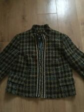 principles 16 Wool Checked Jacket Green And Blue