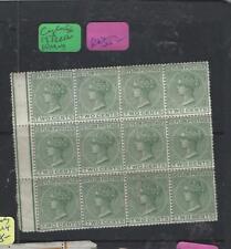 CEYLON (P2003B)  QV  2C GREEN  SG 147  BL OF 12 INTERLEAVING ON BACK