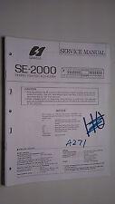 Sansui SE-2000 service manual original repair book stereo graphic eq
