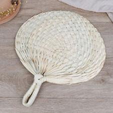 Decorative Hand Fan Straw Hand-woven Wedding Souvenir Handheld Bamboo Dance.f