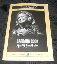 Playbill MOSTLY SONDHEIM signed by Barbara Cook, Byham Theatre, Feb 2003