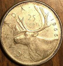 1966 CANADA SILVER 25 CENTS