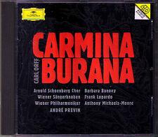 ANDRE PREVIN carl orff carmina burana Barbara Bonney LOPARDO Michael-Moore CD DG