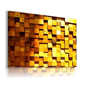 3D EFFECT WOODEN BLOCKS CANVAS WALL ART PICTURE LARGE SIZES WS36 MATAGA