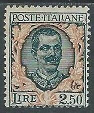 1926 REGNO FLOREALE 2,50 LIRE MH * - W259