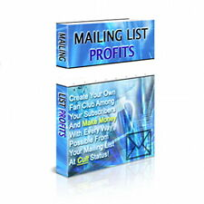 Create Your Fan Club With Your Subscribers & Make Money With Mailing List (CD)