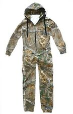 Stealth Camo Onesie Mens Tree Camouflage Jumpsuit Warm Fishing Hunting All in 1 M