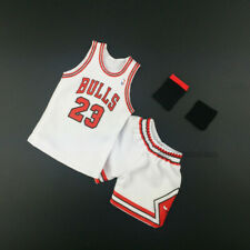 1/6 hot Nba Michael Jordan #23 Chicago Bulls Basketball Home White Jersey