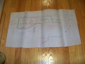 1865 Vellum Map Rahway Linden New Jersey John Shotwell Pennsylvania Railroad