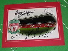 Liverpool Anfield Photo Mounted Signed x 6 Yeats St John Neal Grobbelaar etc