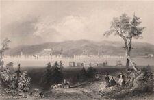 NEW BRUNSWICK. Fredericton, from across the Saint John river. BARTLETT 1842