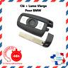 Telecommande coque de clé Plip pour BMW Serie 1 3 5 6 7 X5 X6 Z4 HU92 Noir