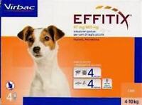 EFFITIX  puces tiques /leishmaniose chiens de 1,5 à 60kg 4 pipettes/spot on
