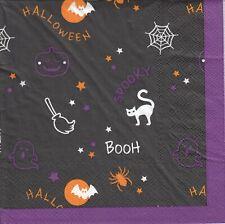 3 Lunch Papier Servietten Napkins (6-4)  Spooky Halloween Katze - Cat