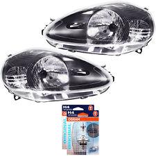 Scheinwerfer Set Fiat Grande Punto Typ 199 09 2005-10 2008 schwarz H4 1341987