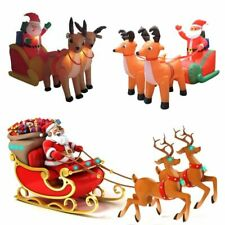 Giant Inflatable LED Lighted Santa Double Deer Outdoor Christmas Decor 210cm